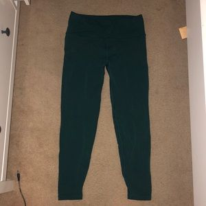 lulu lemon teal 7/8 leggings size 8
